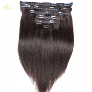 Remy Virgin Brazilian Hair Clip In Hair Extensions Free Sample 120g 140g160g 180g 200g 220g