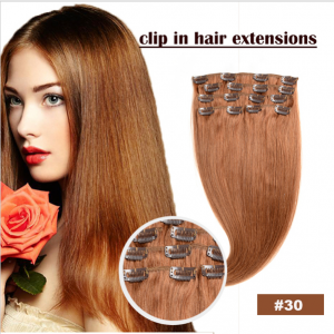 Top Seller 100% Qingdao Factory  Clip In Hair Extensions