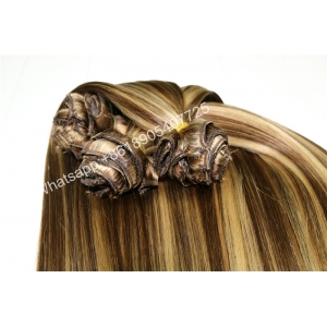 Top Ten 100% Human Brazilian Double drawn Silky Straight Clip In Remy Hair Extension