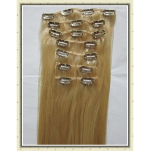 Top grade virgin 200g clip in human hair extensions free sample, wholesale top quality clip hair extension