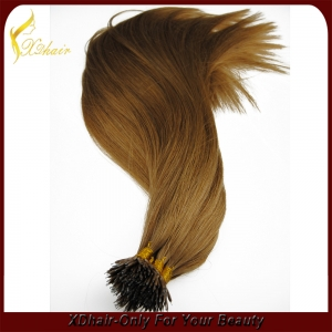 Top quality 100% full cuticle remy double drawn wholesale nano ring hair extension russian