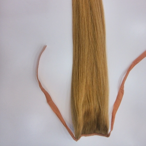 Top quality ponytail clip in remy human hair extensions