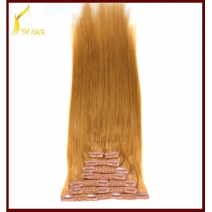 Top quality real human hair full set remy clip in extensions 500 gram