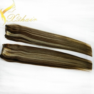 Two color mix human hair clip in extension piano color hair