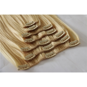 Unprocessed Wholesale Cheapest 100% Human Hair Full Head Clip On Hair Extensions 8 pcs