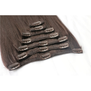 Unprocessed Wholesale Cheapest 100% remy human clip in hair extension