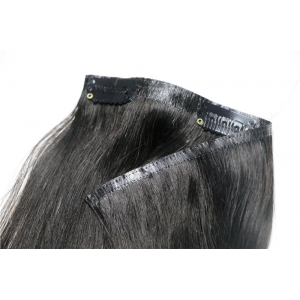 Virgin Brazilian Human Hair Clip in Hair Extensions Ombre Colored dark color 1#
