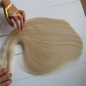 Wholesale Double Drawn silky straight human hair weft,ombre color virgin remy braizlian hair weaving