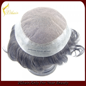 Wholesale Remy Virgin Human Hair Free Style Toupee Custom Order Available