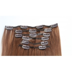 Wholesale cheap 100% brazilian human hair wet and wavy grey hair clip in hair extensions for white women