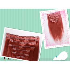 Wholesale hot selling prebonded human hair elastic clip in hair extension double weft cheap price