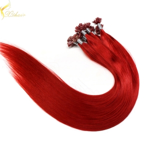 Wholesale price remy italian keratin double drawn flat tip keratin hair extensions