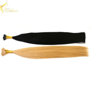 Wholesale price remy italian keratin double drawn fusion hair extensions