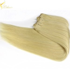Wholesales factory price high quality remy blonde color straight brazilian 7a