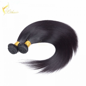 brazilian remy hair weft 100% virgin machine double weft virgin brazilian natural color 1b hair