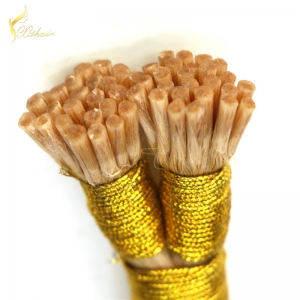 china hair supplier pre-bonded i tip hair extension double drawn stick tip virgin brazilian human hair for women