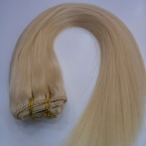 factory price human clip in hair extensions