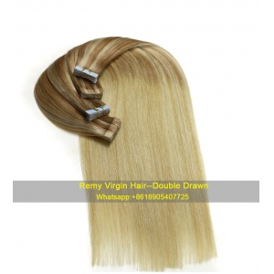 hot sale new fashion High quality 100% virgin brazilian silky straight remy human tape hair extension
