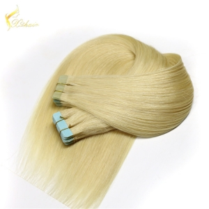 new design directly factory best quality lighest 100 percent remy human hair super tape no tangle single sided tape extensions