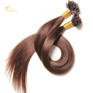 premium quality no tangle nail hair extension remy u tip 100 human hair