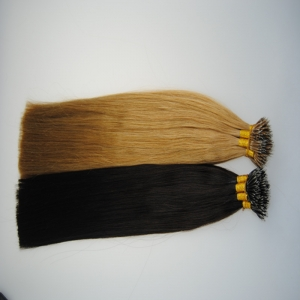 pure brazilian  nano ring virgin remy hair extension