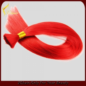 red color brazilian human hair bulk