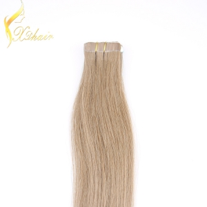 top quality 20inch double drawn brazilian virgin 1*4cm tape hair