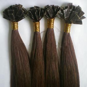 virgin remy flat tip hair extensions