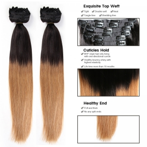 weavon hair brazilian clip in remy hair extensions 160g