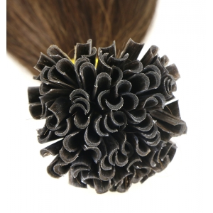 wholesale factory price full cuticle cut from one donor 100% virgin brazilian remy human hair U nail tip hair extension