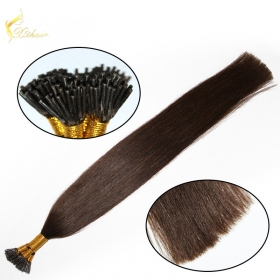 China 100% Virgin Russian Remy Double Drawn Human Hair 0.5g 0.8g 0.9g Itailan Keratin Pre bond I Tip Remy 1g Stick Tip Hair extensions-Fabrik