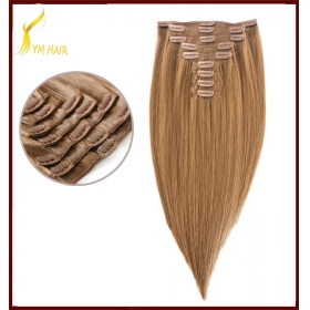 Chine 100% human hair full head virgin brazilian hair clip ins usine