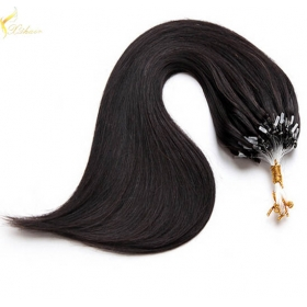 "Chine 18"" top grade russian remy human hair 0.8g micro ring extensions double drawn usine"