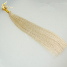 China Alibaba wholesale High Quality #613 Virgin Remy 100% Brazilian Human Nano Ring Hair Extensions With Beads factory