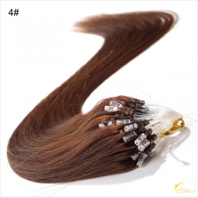 China Brazilian Micro Ring Loop Hair Extensions Silky Straight Human Hair on sales