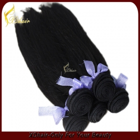 "China Manufacture Wholesale 100% Human Hair Cuticle Remy Brazilian hair 22""  #1 Jet Black factory"
