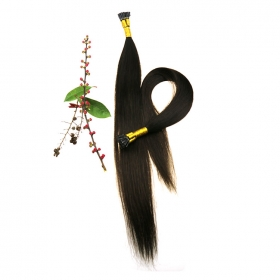 La fábrica de China Cheap Brazilian hair kinky straight no tangle no shedding dyed and ironed well itip hair extensions