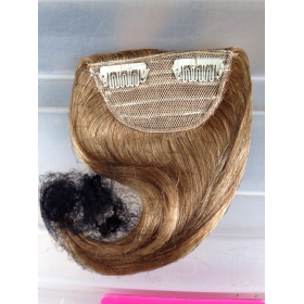 China Cheap Wholesale Natural Real Hair 100% remy clip in hair extension bangs factory