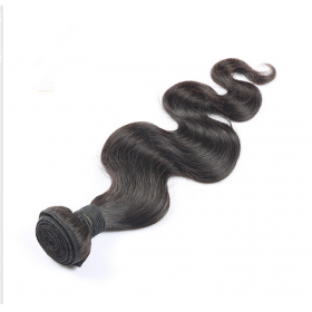 China Double Machine Weft 100% brazilian body wave 8A grade 8-30 inch natural color human hair weft 100g per piece wholesale factory