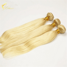 China Double Weft Machine Make Full cuticles Cambodian Silky Straight hair blonde 613 color hair weft-Fabrik
