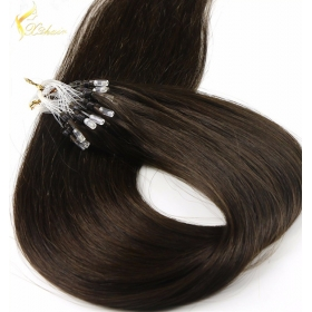 La fábrica de China Fashion Keratin Fusion loop tip hair 100% Cheap Indian remy micro Loop ring human hair