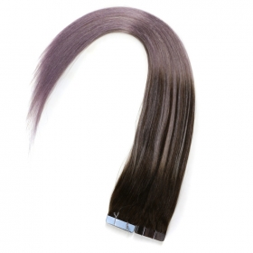 China Natural color 100% unprocessed PU tape in hair extensions factory