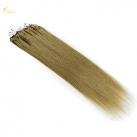 La fábrica de China Featured Luxurious 100% Real Human Straight Micro Loop Hair Extensions