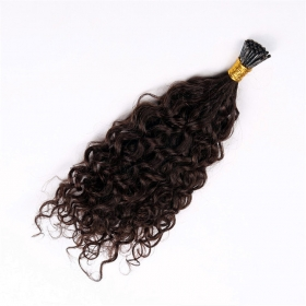 China Good Quality Indian Hair i tip hair extensions kinky curly fábrica