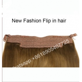 TSín Hair factory customized high quality 100% human hair wholesale flip in halo hair mhonarcha