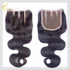 La fábrica de China High Quality Natural Wavy peruvian hair lace closures piece,100% Virgin Human Hair weaves
