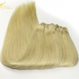 China Hot selling trade assurance double weft shedding free blonde color hair weave factory