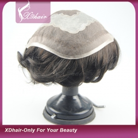 Кита Human Hair Toupee for Men Short Hair Toupee Virgin Human Hair завод