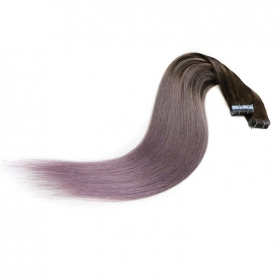 China Fashion hot sale balayage color PU tape in hair extensions factory