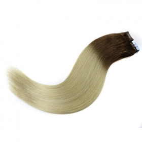 China In stock hot sale for black women PU tape in hair extensions factory